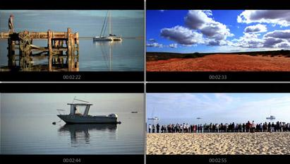 大海周邊海岸沙灘漁船海邊日出日落 佳能相機測試影片高清實拍