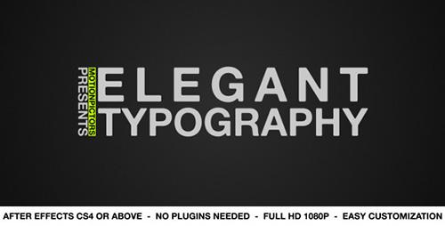 ae模板-高端文字排版视频模板 Elegant Typography