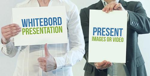 ae模板-白板企业商务产物推行宣传引见视频模板 Whiteboard_Prese