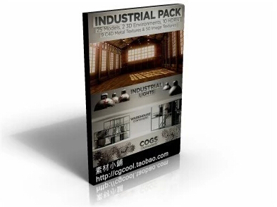 25个C4D工?#30340;?#22411;素材包 The Pixel Lab Industrial Pack