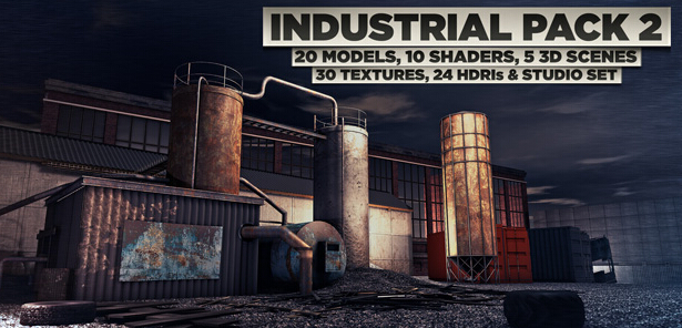 20个C4D工业模型素材包 The Pixel Lab Industrial Pack