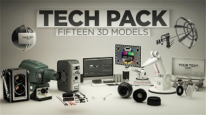 C4D电器数码模型素材包 The Pixel Lab Tech Pack
