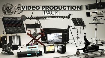 C4D媒体行业素材模型包 The Pixel Lab Video Production Pack