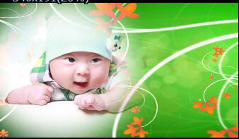 《綠色溫馨相冊》會聲會影模板家庭兒童個人寫真電子相冊片頭視頻