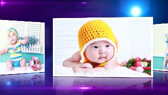 《相册》会声会影模板家庭儿童个人写真电子相册片头视频模板
