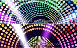 节奏明快舞台闪光灯光秀的led演出动态背景视频素材