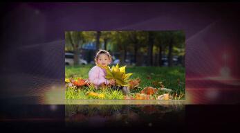 《炫彩背景展示》会声会影模板家庭儿童个人写真电子相册片头视频