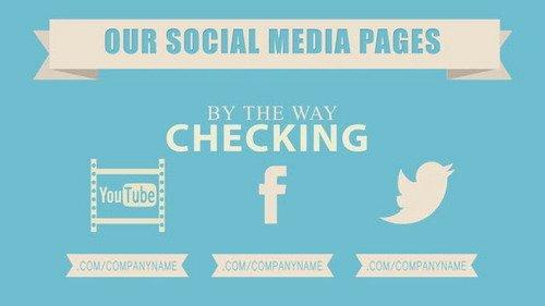 网站宣传推广专用形状标志ae视频素材 Site Promotion