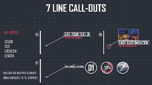 7組直線標注視頻模板素材包-7-line-callouts