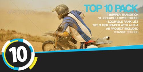 10組高級標志字幕條視頻素材模板 Top 10 Pack