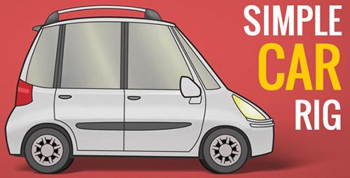 简洁汽车构件组合介绍ae视频模板 simple-car-rig