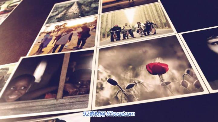 折叠照片电子相册视频模板 Folding Photos Slideshow
