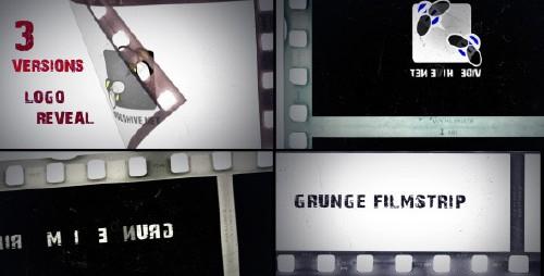 单调胶片影戏动画展现AE模板 -grunge-filmstrip