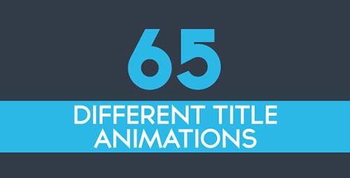 65个迷你动态文字标题动画图标AE素材 65 Minimal ti<x>tle Anima