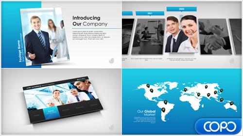 简单简介商务公司企业宣传推广宣传片视频AE模板 Simple Company