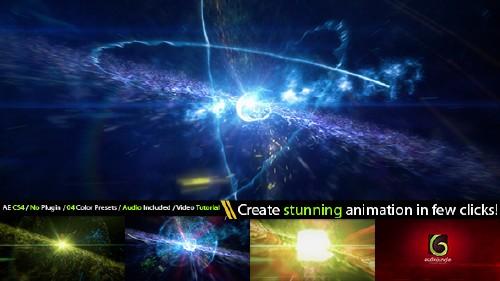 炫酷超新星震撼电影空间光线粒子爆炸标志介绍AE视频特效素材