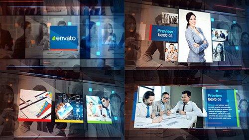 商务企业团队历程业务多媒体视频宣传推广动画AE视频模板