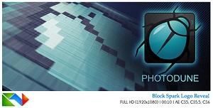 块状火花晶格标志LOGO视频素材AE模板 Block Spark Logo Reveal