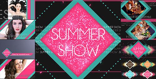 盛夏时尚时装模特展示秀娱乐风格电视栏目包装视频模板