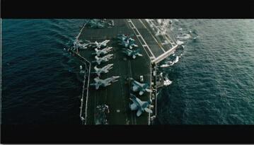 高清实拍航母 航空母舰海上航母舰队空中战机高清实拍视频素材