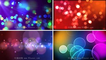 夢幻極炫的粒子炫光 4段超絢麗的粒子光圈效果 背景動態視頻素材