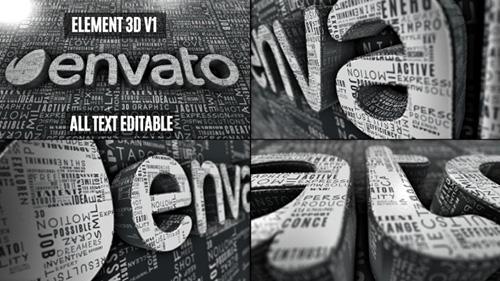 创意文字logo标志展示ae模板Creative Words Logo Reveal