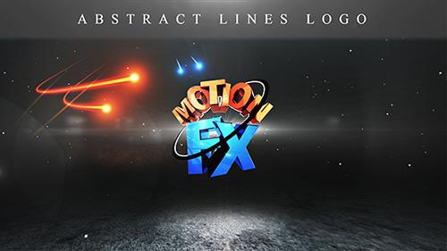 光线logo标志展示ae模板Abstract Lines Logo