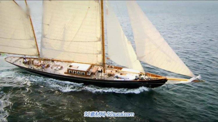 海上帆船乘风破浪 企业扬帆起航大气一帆风顺 高清实拍视频素材