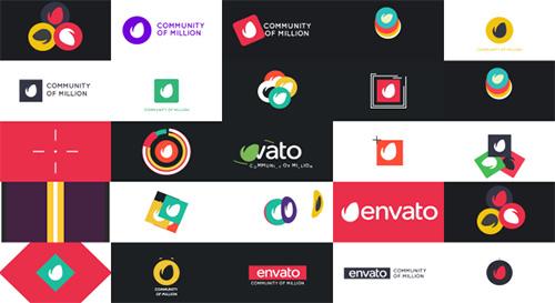 30组flash动画logo标记ae模板30 Minimal Logo Reveal Pack