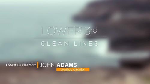 企业简约风格线条时尚字幕条包装ae模板Clean Lines