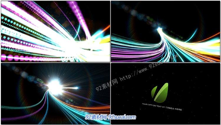 震撼壮丽粒子光芒线条标记归纳展现AE模板 Logo Streaks