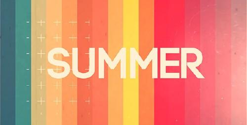 五彩繽紛的夏日假期介紹 AE模板 Summer Intro