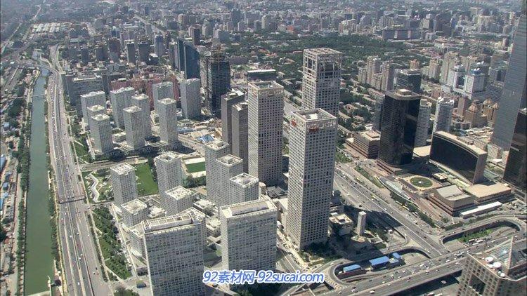 北京城市航拍空镜头 交通高楼大厦城市繁荣的景象高清实拍视频