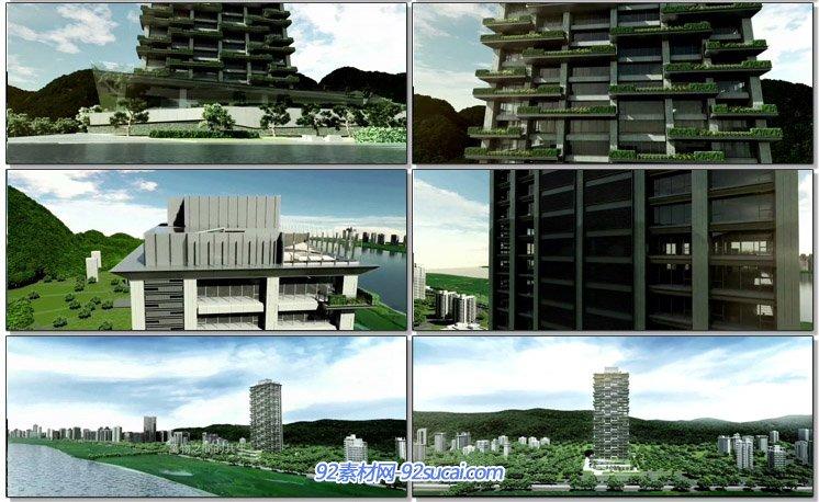 頤海大院房地产宣传片 3D建筑漫游动画房地产设计动画高清视频