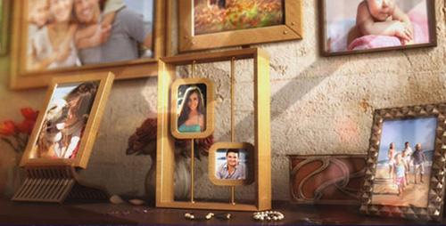 幸福温馨的家庭相册展示合集AE模板 Happy Family Photo Album