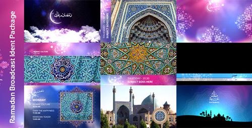 伊斯兰斋月广播介绍包装 AE模板 Ramadan Broadcast Ident Packag