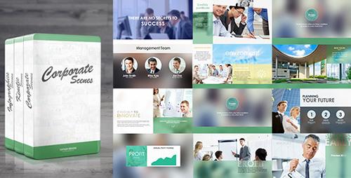 商务企业产物宣传笔墨幻灯片图标AE模板 Corporate Package: 3-in