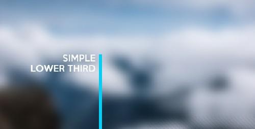 简洁的自我介绍文字演示AE模板 Simple Lower Third