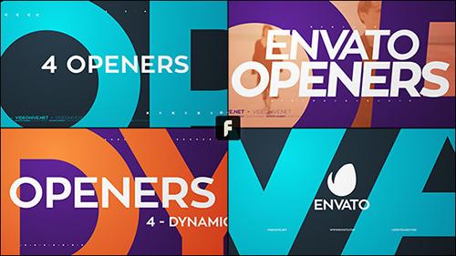 动感动画开场视频素材AE模板 Dynamic Openers