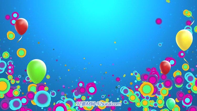 兒童卡通可愛圓點泡泡氣球動畫 動態背景視頻素材