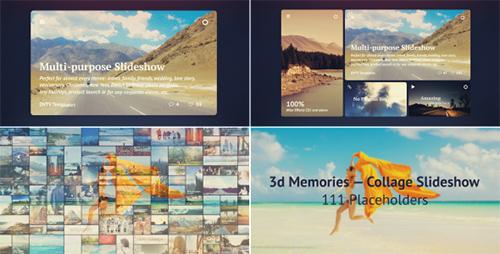 3D幻灯片拼贴特效三维动态展示AE模板 Collage Slideshow