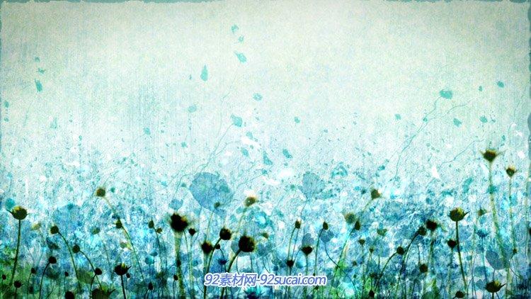 唯美浪漫的花圃物语 安定优雅的小花静态配景高清视频素材