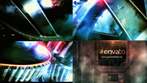 史詩鋼鐵齒輪轉動震撼蒸汽特效AE模板 Epic Action Logo