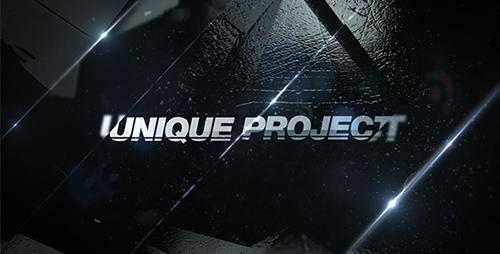史诗电影特效黑白镜头切换预告片宣传片图文展示AE模板Epic Promo