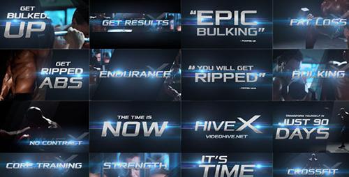 快节奏特效转场特效光晕字幕标题背景渲染AE模板 Epic Promo