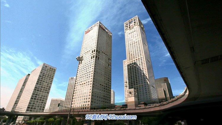 北京城市高楼大厦 商务大楼玻璃外墙特写高清实拍动态视频素材