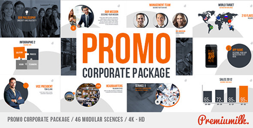 企业公司产品推广展示包装AE模板 Promo Corporate Package