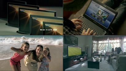 三星产物企业抽象宣传片高清实拍 手机电视相机儿童玩耍居家跑步