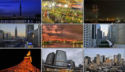 唯美延时摄影城市缩影人流车流城市建筑时间变化夜景机场高清实拍