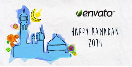 伊斯兰教斋月节日快乐动漫可爱动态模板展示AE模板 Happy Ramadan